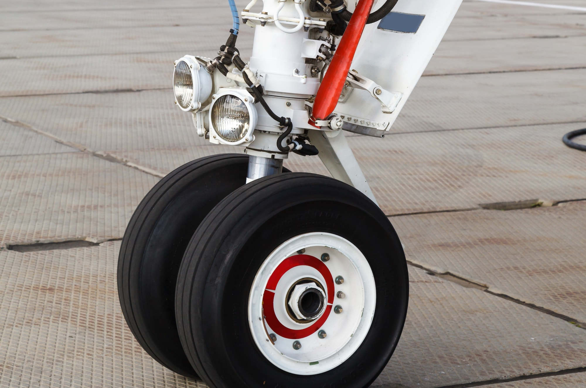 Landing gear parts and supplies: nose wheel, tires